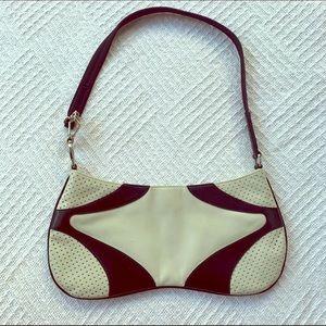 AUTHENTIC PRADA black&white leather shoulder bag